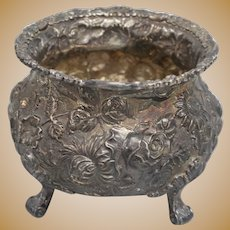 Kirk Stieff Rose #700 Sterling Repousse Waste Pot - 335.5 grams