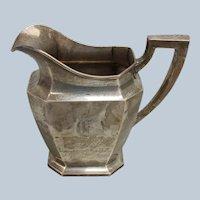 WM B. Durgin Jas R. Armiger Sterling Silver 4 Pint Pitcher - Monogrammed