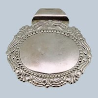 Sterling Silver Oval Slider Pendant with Etched Edge