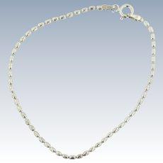 """Milor Sterling Silver 7 1/4"""" Beaded Link Bracelet"""
