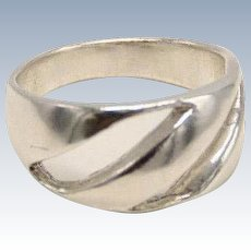 Sweet Sterling Silver 925 Freeform Cut-Out Band Ring - Size 5