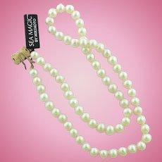 "Beautiful Sea Magic by Mikimoto 18"" Pearl Necklace w/14K Yellow Gold Box Clasp"
