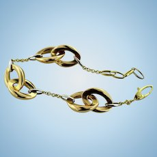 "BOLD Chimento Capricci 18K Tri-Tone Gold 8"" Cable Link Bracelet"