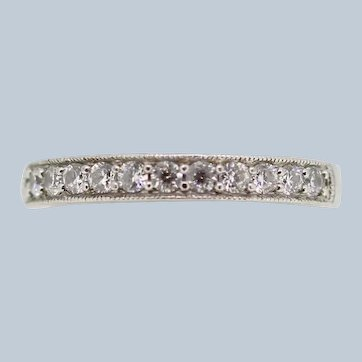 Sterling Silver 11 Round CZ Band Ring - Size 7