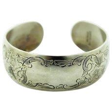Vintage S Kirk & Son Sterling Silver Cuff Bracelet - Marked 15-0 - No Monogram