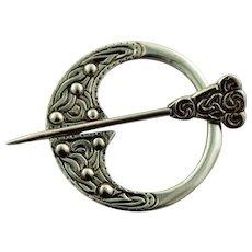 Vintage Robert Allison Scottish Sterling Silver Celtic Kilt Pin