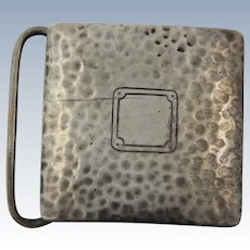 Vintage Sterling Silver .925 Hammered Design Belt Buckle