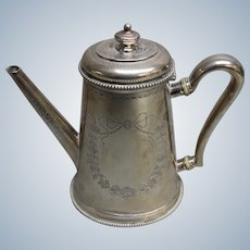"Antique Victorian C.F. Hancock Silver Teapot - 9 1/4"""