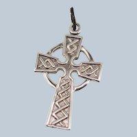 Sterling Silver Small Swirl Cross Pendant