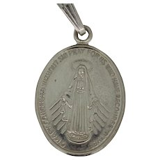 Sterling Oval Miraculous Medal Pendant