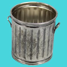 Vintage/Estate Sterling Silver Trash Can Toothpick Holder