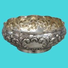 Black, Starr & Frost Sterling Silver Floral Sterling Silver Bowl