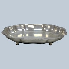 Durham Sterling Silver Footed Tray 12""