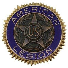 1920 14k Gold/Blue Enamel U.S. American Legion Medal - Personalized