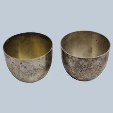 Set of 2 Stieff Sterling Silver Jefferson Cups 0709-11