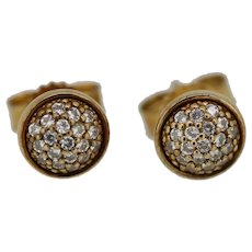 Authentic Pandora Dazzling Droplet Stud Earrings 14k Rose Gold CZ