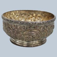 """JE Caldwell Sterling Silver Repousse Dish 5 1/4"""""""