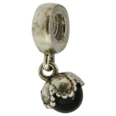 Pandora ALE Sterling Silver Ball Pendant Dangle Charm - 790379O