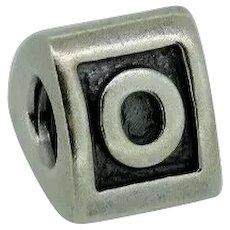 "Pandora ALE Sterling Silver 925 Alphabet Charm ""O"" - 790323O"