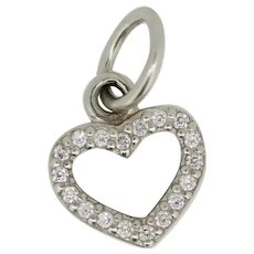 Pandora ALE Sterling Silver Sparkling Heart Dangle Charm