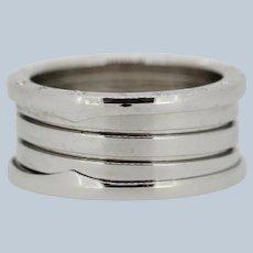Bvlgari B.zero1 18K White Gold Three-Band Ring - Size 62 (10)
