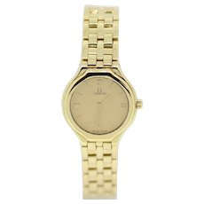 Omega DeVille Ladies 18k Yellow Gold Wristwatch