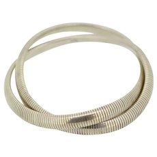 .999 Silver Double Snake Link Stretch Bracelet