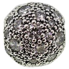 Retired Pandora ALE Sterling Silver 925 Cosmic Stars CZ Clip Charm 791286CZ