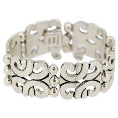 """Sterling Silver Celtic Knot Design Hindged Bangle Bracelet 7.5"""""""