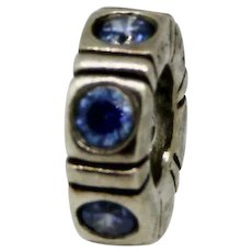 Pandora ALE Sterling Silver 925 Blue Northern Lights Spacer - 790368CZB