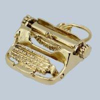 14k Yellow Gold Typewriter Pendant