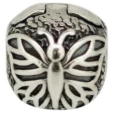 Pandora Retired Sterling Silver Lacewing Butterfly Clip - 791256