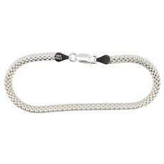 """Sterling Silver Bismark Link Chain Bracelet - 7 1/4"""""""