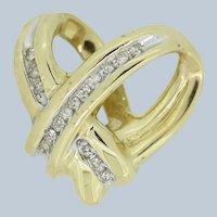 10k Yellow Gold Diamond Heart Slider Pendant