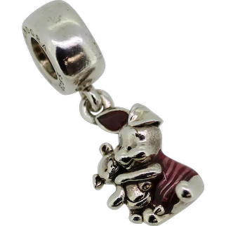Pandora Sterling Silver Disney Piglet Charm with Pink Enamel - 792134EN117