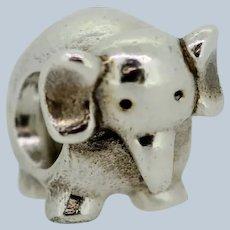 Pandora Retired Sterling Silver Elephant Animal Bead - 790480