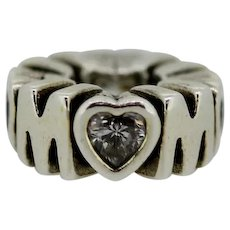 Pandora Retired Sterling Silver Mother's Pride Mom Spacer with CZ 791520CZ