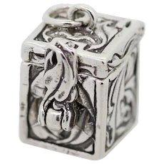 Sterling Silver Trinket Box Locket Pendant