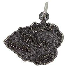 Sterling Silver Kauai Charm Pendant