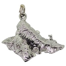Sterling Silver Hawaii State Charm Pendant