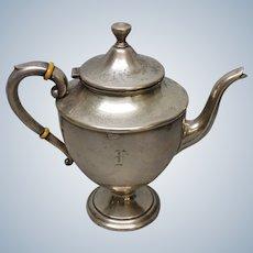 Vintage Preisner Sterling Silver Hinged Lid Teapot