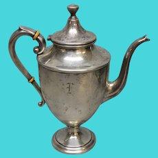 "Vintage Preisner Sterling Silver Hinged Lid Teapot - 11"""