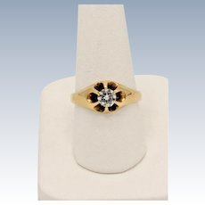Vintage 14K Yellow Gold Solitaire .5ct Round Diamond Ring - Size 8.5