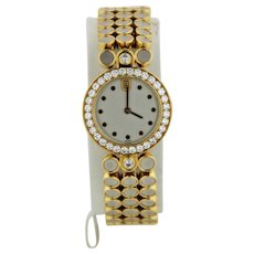 Beautiful Women's 18K Yellow/White Gold & Diamond Bracelet Watch #1899 by Harry Winston