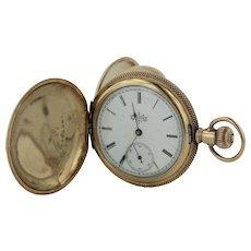 Antique 1894 Elgin 6s 7 Jewel Grade 117 14K Yellow Gold Hunter Case Pocket Watch