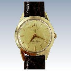 Vintage Mathey-Tissot 14K Yellow Gold Reservomatic Men's Watch w/New Croco Band