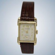 Vintage Waltham 10K Gold Filled 17-Jewel 750-B Wristwatch