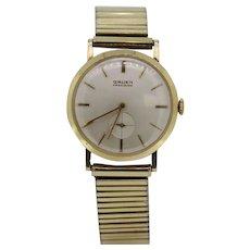 Vintage Gruen Precision 10k Gold Filled Men's Wristwatch
