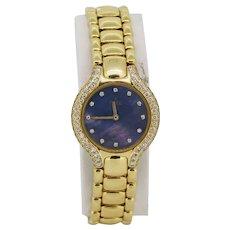 Ebel Beluga 18K Yellow Gold Mother of Pearl Diamond Ladies Wristwatch