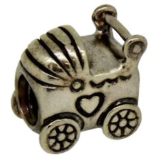 Pandora ALE Sterling Silver 925 Baby Carriage Charm - 790346